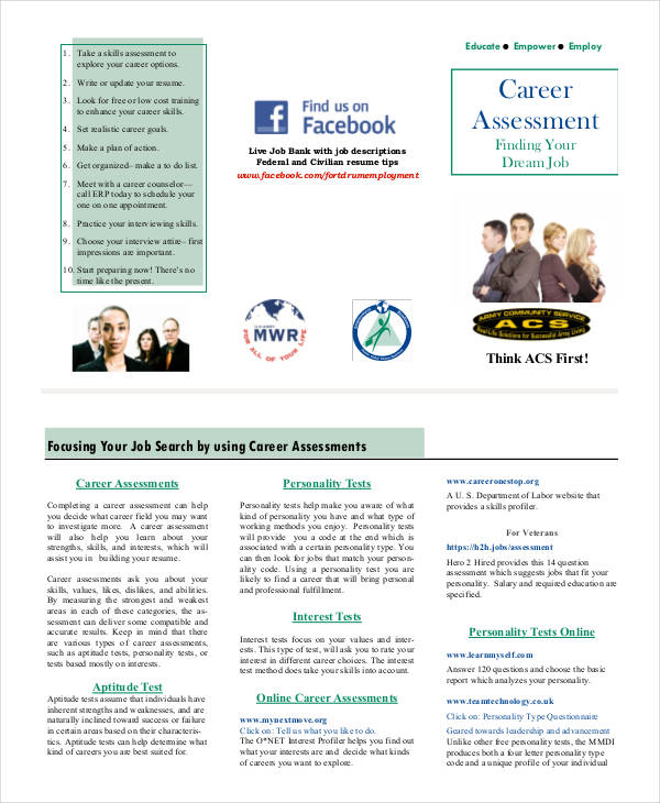 17+ Career Assessments Examples  Samples Examples