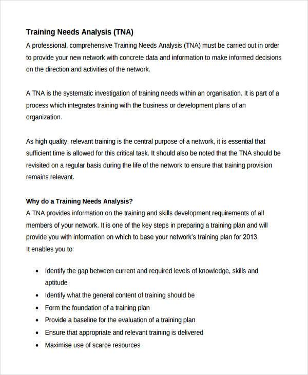 46+ Needs Analysis Examples \ Samples - training needs analysis template