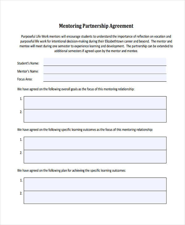 49+ Examples of Partnership Agreements - partnership agreement contract