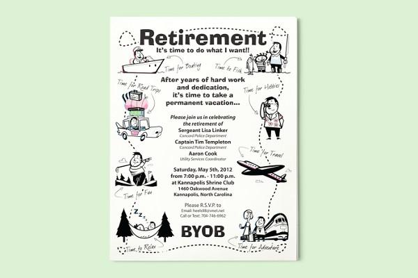 retirement party flyers