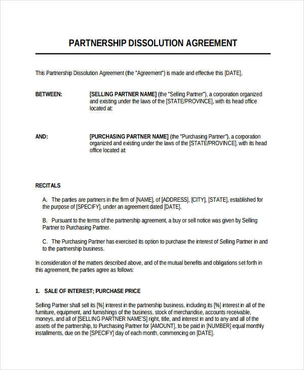 49+ Examples of Partnership Agreements - general partnership agreements