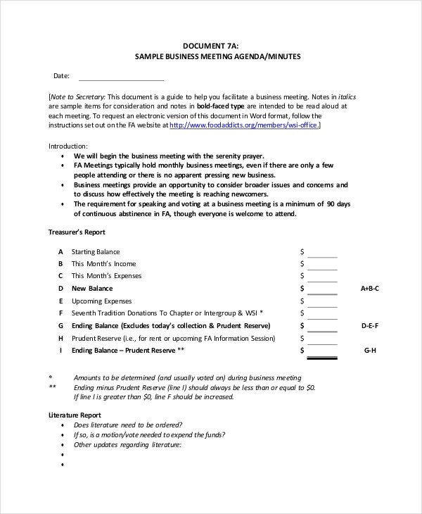 59+ Meeting Agenda Examples  Samples - DOC, PDF