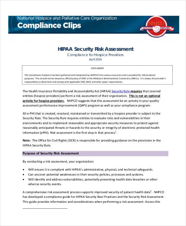 40+ Risk Assessment Examples  Samples
