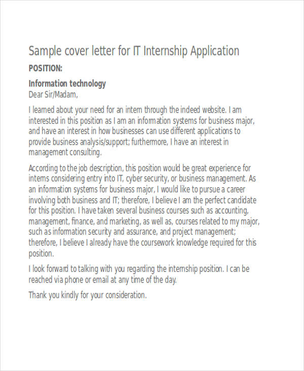46+ Application Letter Examples  Samples - PDF, DOC