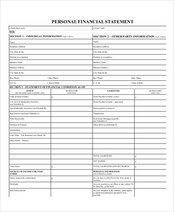 29+ Financial Statement Examples  Samples - PDF, Word, Pages