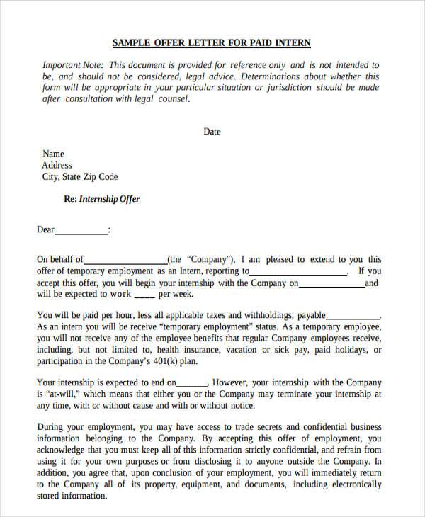 40+ Offer Letter Examples - offer letters
