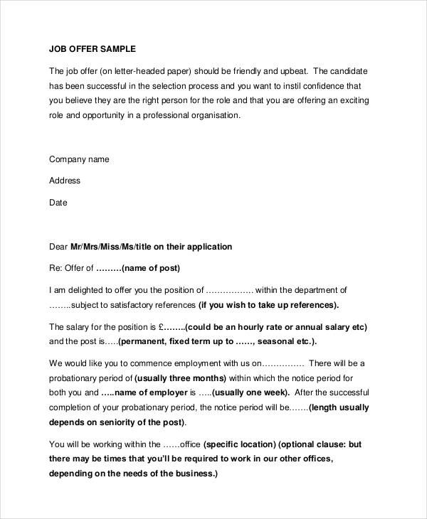49+ Appointment Letter Examples  Samples - PDF, DOC - job appointment letter
