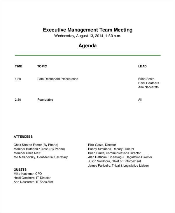 agenda examples lovinglyy - example of agenda of meeting