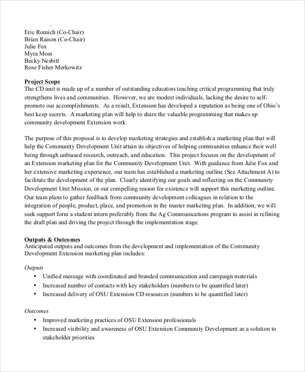44+ Project Proposal Examples - PDF, Word - project proposal format template