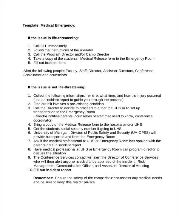 31+ Incident Report Examples , Samples - medical incident report form