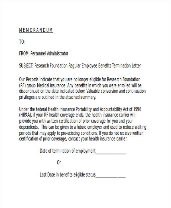 53+ Termination Letter Examples  Samples - PDF, DOC - how to write a termination letter to an employer