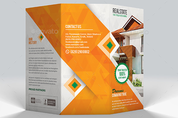 41+ Real Estate Brochure Designs  Examples - PSD, AI, Vector EPS - modern brochure design