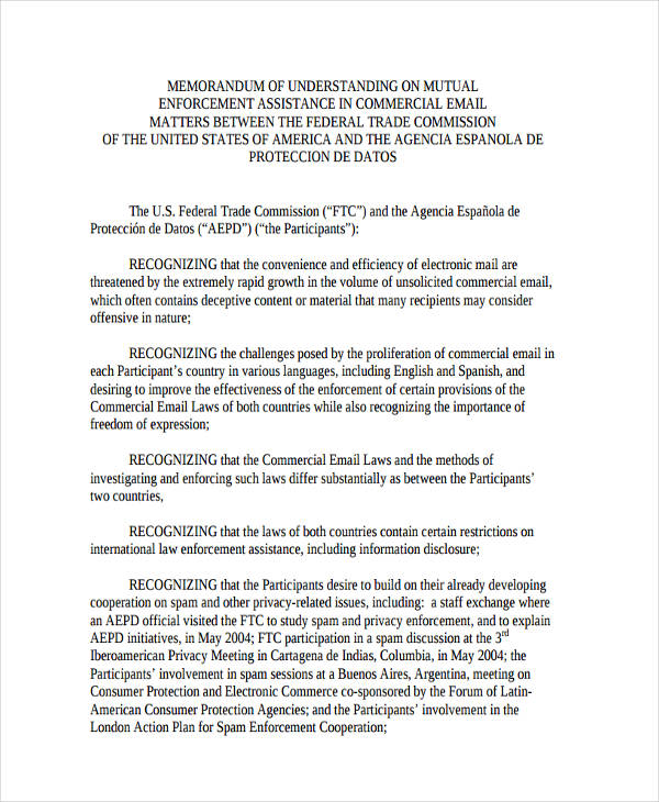 43+ Commercial Agreement Examples and Samples - mutual understanding agreement format