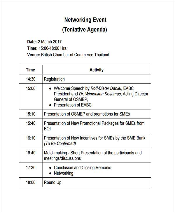 22+ Event Agenda Examples