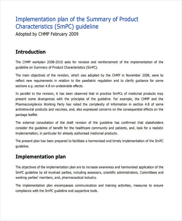 Project Implementation Plan Template Excel Spreadsheet ...