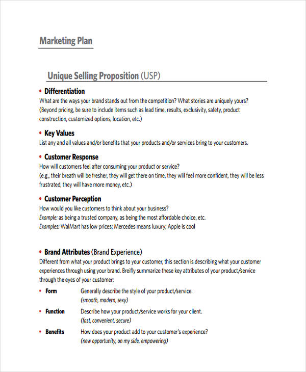 39+ Marketing Plan Examples  Samples
