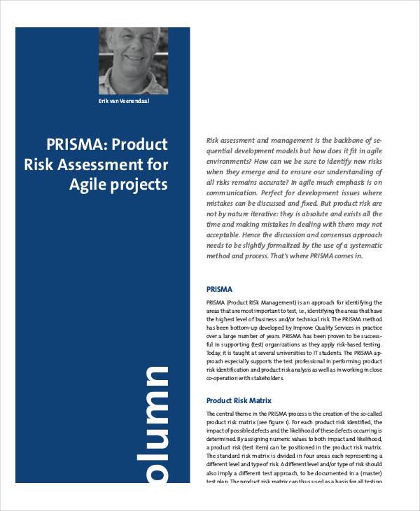 40+ Risk Assessment Examples  Samples - product risk assessment