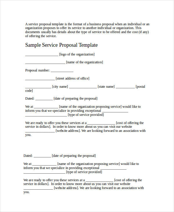 39+ Business Proposal Examples  Samples - PDF, DOC - Business Proposals Format