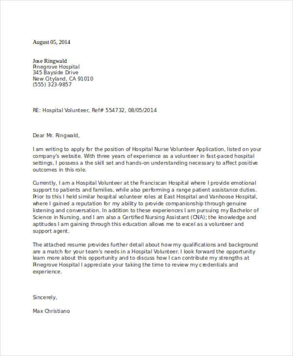 46+ Application Letter Examples  Samples - PDF, DOC - application letter