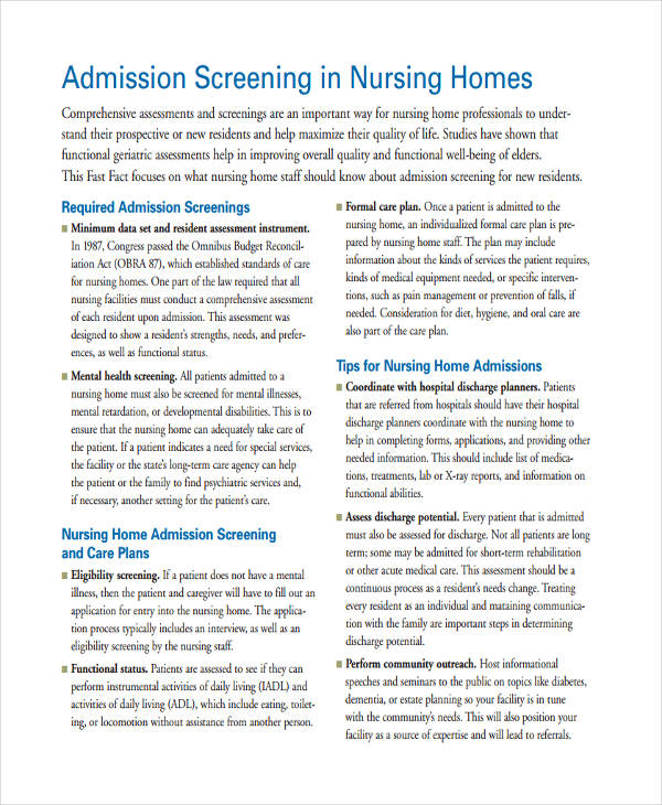 34+ Nursing Assessments Examples  Samples - nursing assessment forms