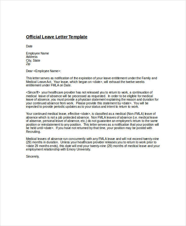 48+ Formal Letter Examples and Samples - PDF, DOC - official letter format