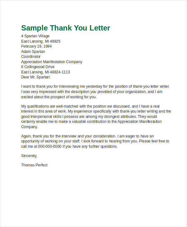 48+ Formal Letter Examples and Samples - PDF, DOC - Examples Of Letters