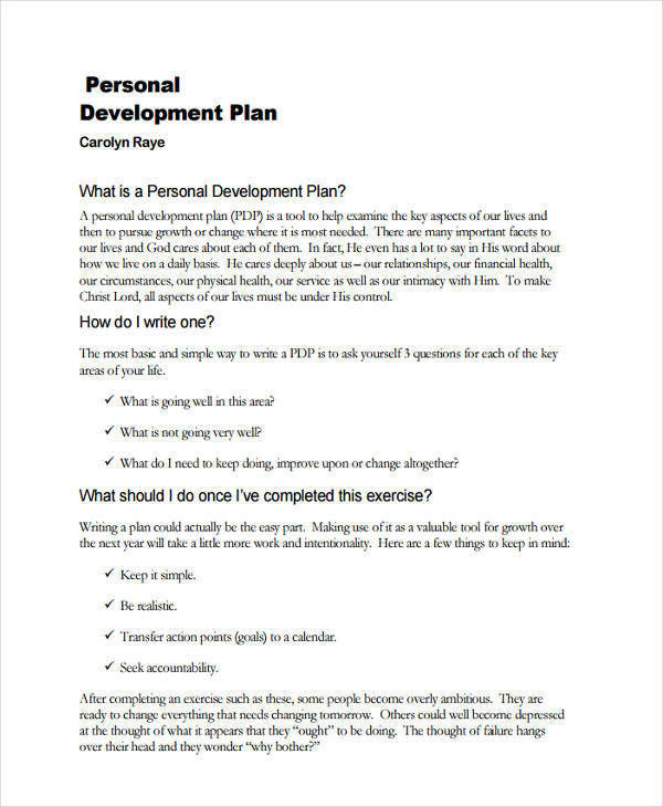 Personal Development Example personal development action plan - personal development portfolio example