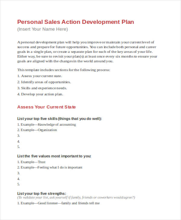 69+ Personal Plan Examples  Samples - example of a personal development plan sample