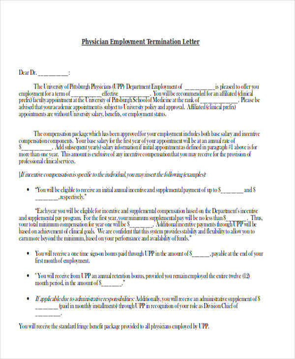 53+ Termination Letter Examples  Samples - PDF, DOC - how to write a termination letter to an employee
