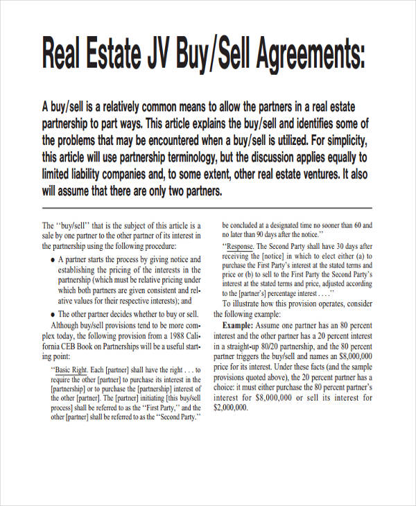49+ Examples of Partnership Agreements - real estate partnership agreement
