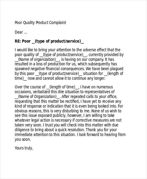 Example Formal Complaint Letter Template Legal 30 Complaint Letter Examples Samples