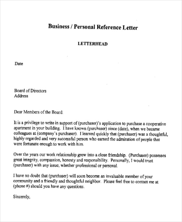 36+ Reference Letter Examples  Samples - PDF, DOC - how to write professional reference letter