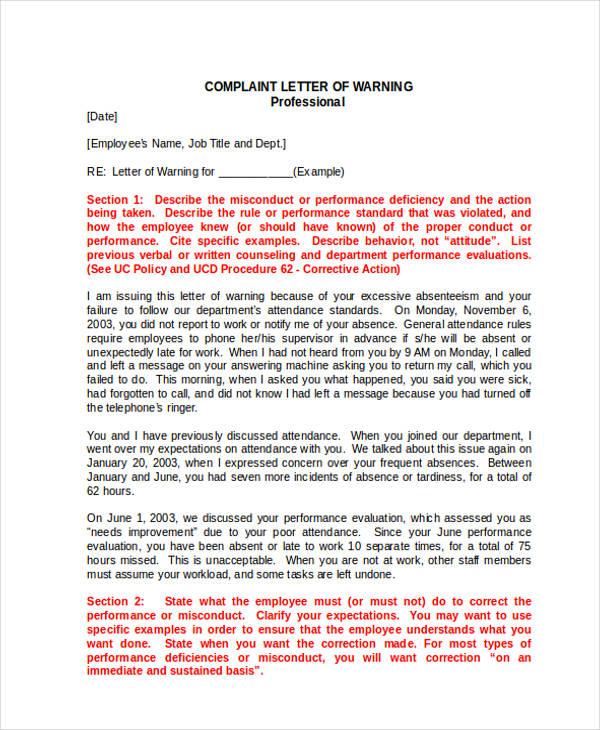 30+ Complaint Letter Examples  Samples - PDF, DOC