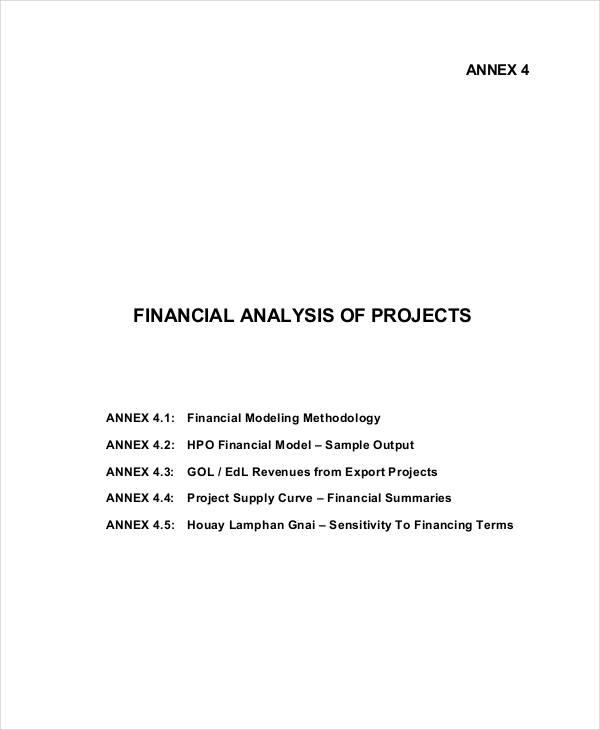 27+ Financial Analyses Examples  Samples - financial analysis sample