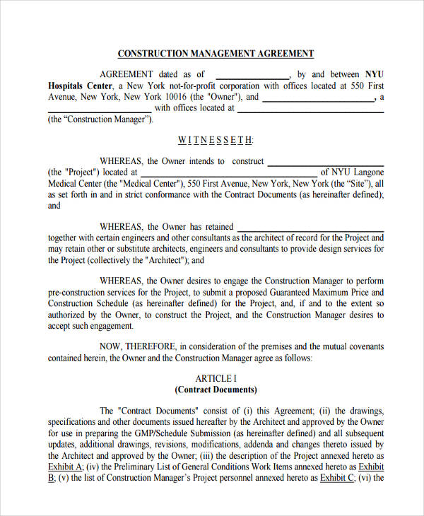 58+ Management Agreement Examples and Samples - contract management agreement