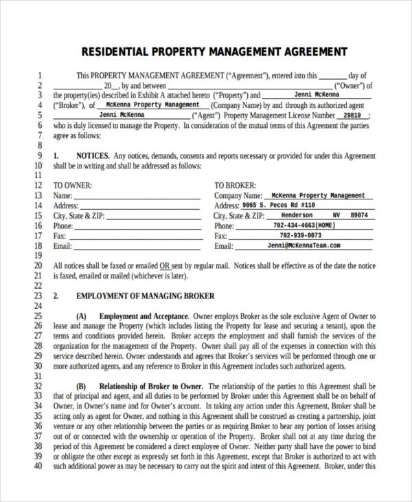 58+ Management Agreement Examples and Samples - management contract template