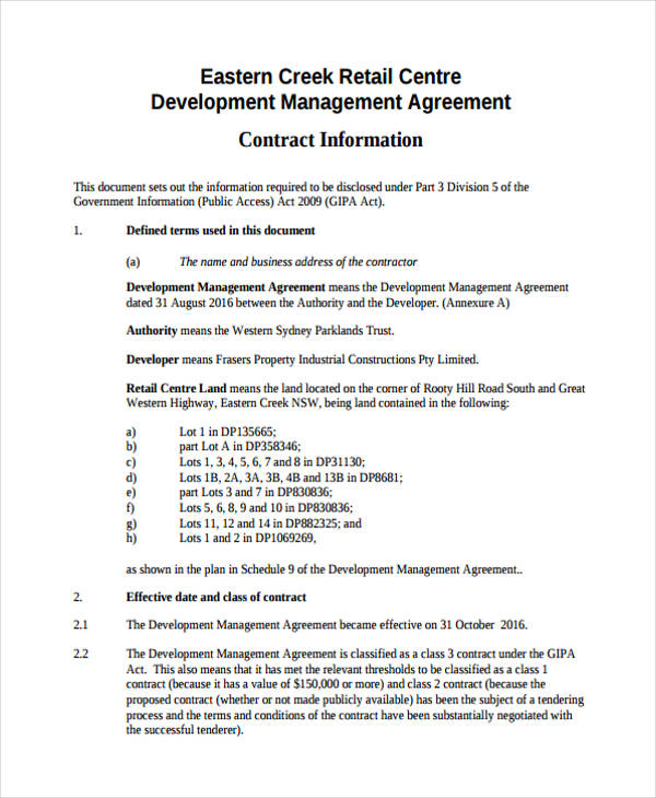 58+ Management Agreement Examples and Samples - management agreements