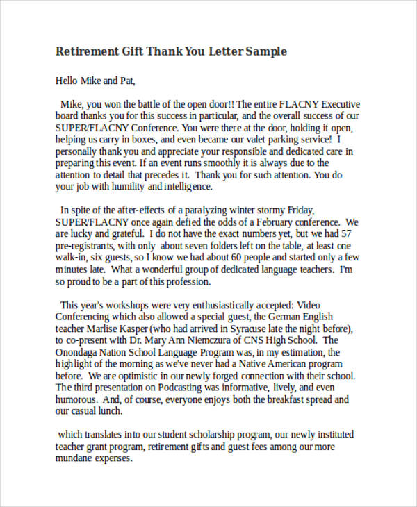 69+ Thank-You Letter Examples - non profit thank you letter sample