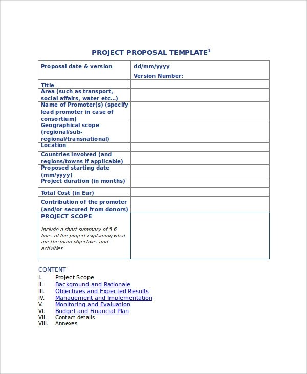 44+ Project Proposal Examples - PDF, Word, Pages - Sample Proposal Template For Project