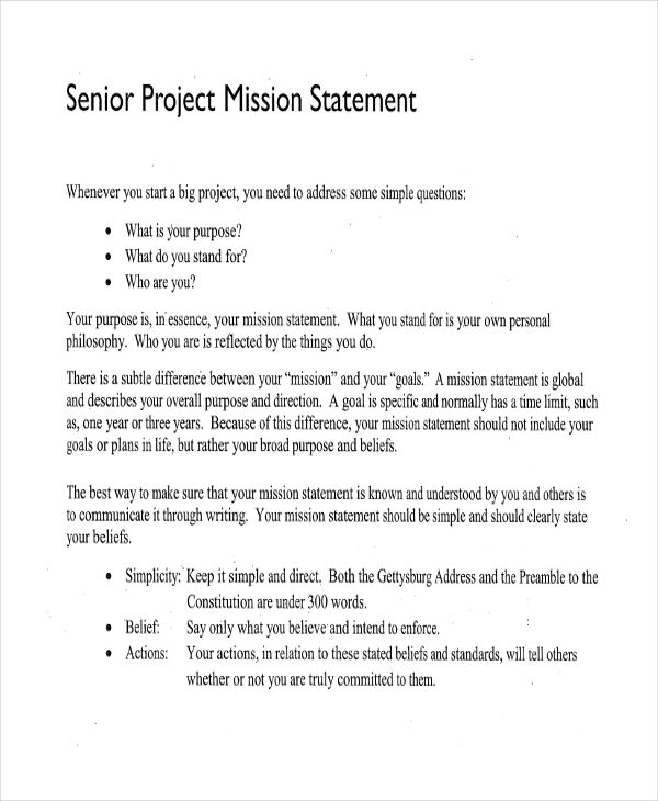 50+ Mission Statement Examples - personal mission statement essay