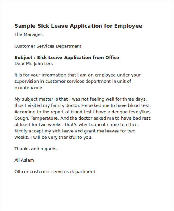 52+ Application Letter Examples  Samples - PDF, DOC