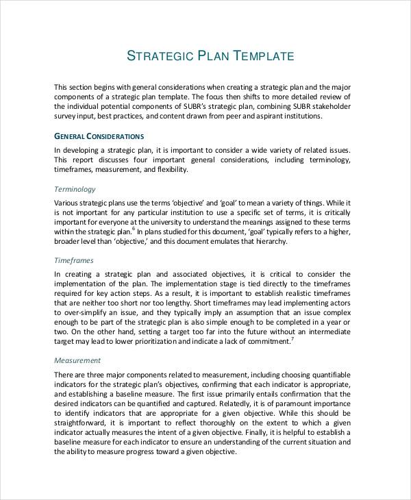 49+ Examples of Strategic Plans - sample strategic plan