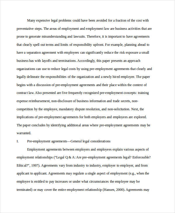 47+ Business Agreement Examples \ Samples - employment separation agreement