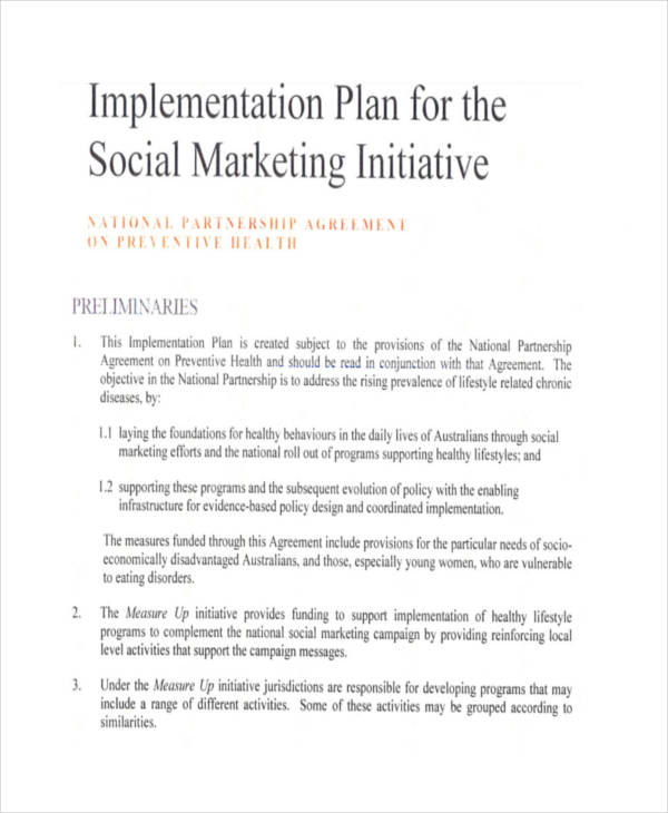 45+ Examples of Implementation Plans - Implementation Plan Template