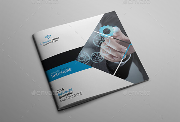 Business Brochure Design Creative Blue Trifold Business Brochure