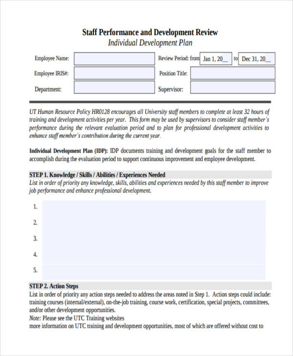 55+ Examples of Development Plans - development plan template for employees