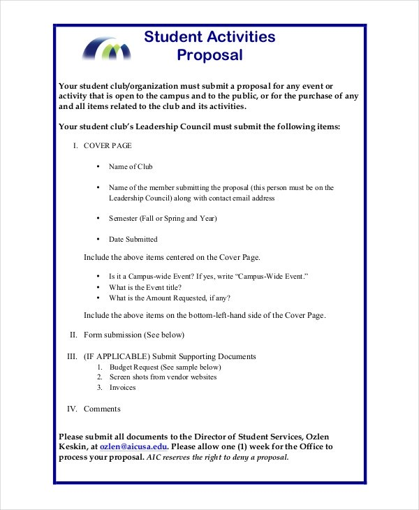 44+ Project Proposal Examples - PDF, Word - How To Write An Event Proposal