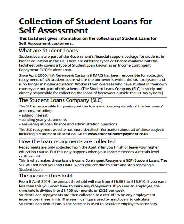 33+ Self Assessment Examples  Samples - PDF