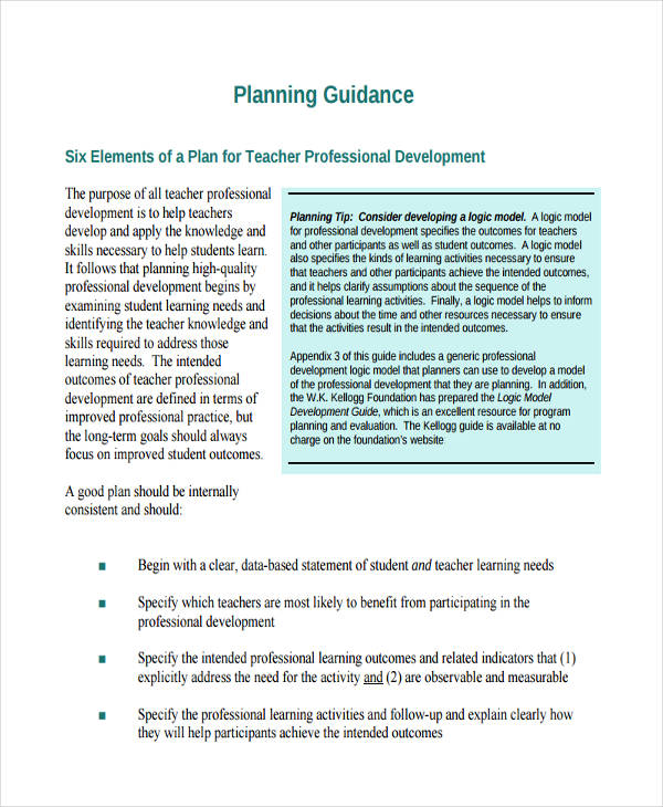 55+ Examples of Development Plans - professional development plan