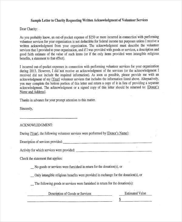 41+ Acknowledgement Letter Examples - letter of intent to purchase goods